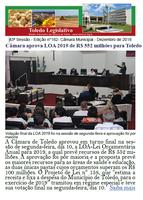 Aprovada LOA 2019 de R$ 552 mi e moções à Prati, PUC e Coamo