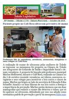Boletim traz proposta do Café Rosa e moções à Apat, fanfarra e badminton