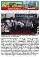 Boletim traz Ratinho na Câmara, CPI, 44° Festin e moções