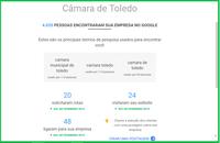 Câmara de Toledo foi achada no Google por 4.025 em março
