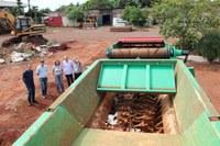 Comissão de Meio Ambiente visita triturador de resíduos volumosos