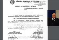 Presidente da Câmara lamenta morte de Waldemiro Merlo