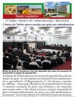 Toledo Legislativo 157 aborda apoio aos caminhoneiros e contas