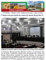 Toledo Legislativo nº 156 traz audiência de contas, agronegócio, Premen e IST