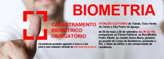 Cadastramento biométrico obrigatório